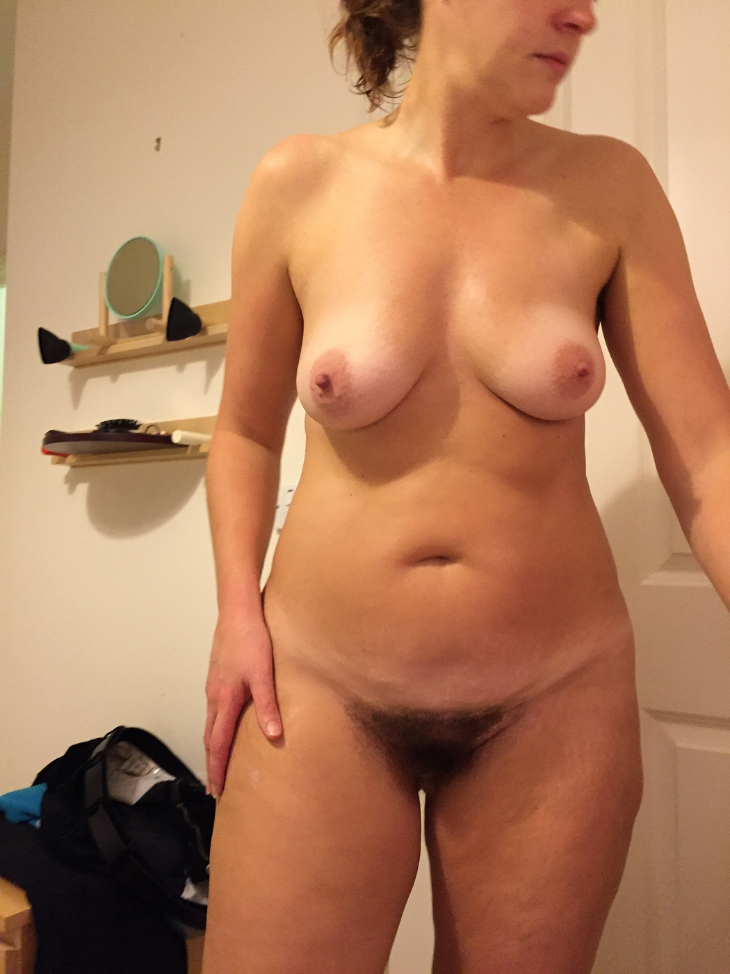 Milf With Smaller Tits And Furry Muff